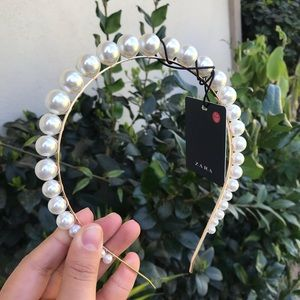 Zara   faux pearl headband